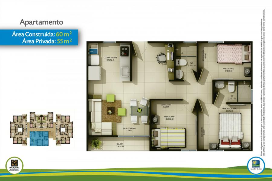 Apartamento en La tebaida 96731, foto 12