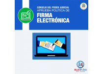 concejo del poder judicial aprueba politica de firma electronica