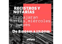 reapertura de registros y notarias