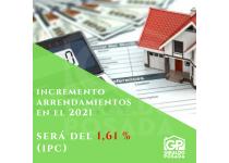 aumento de arrendamientos en el 2021 conforme al ipc