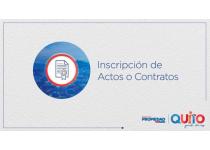 inscripcion de actos o contratos registro de la propiedad del distrito metropolitano de quito