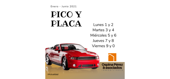pico y placa carros particulares 2021