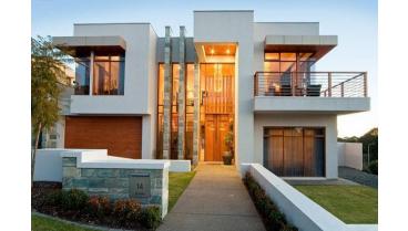 utilizacion de piedra en fachadas modernas