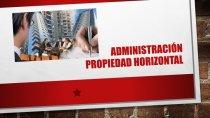 administracion de propiedad horizontal