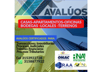 AVALUOS CERTIFICADOS  RAA ANA