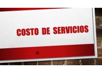 costo de servicios